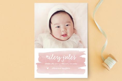 Sweet Splash Birth Announcement Postcards