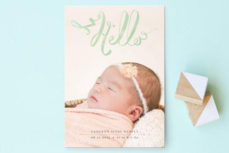 Hello Baby Birth Announcement Postcards