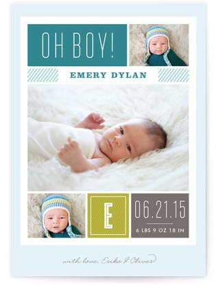 Modern Album Birth Announcement Postcards
