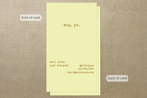 Knock It Business Cards
