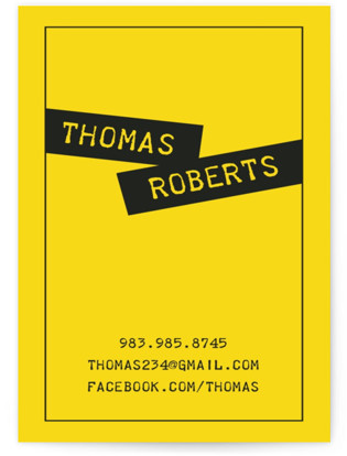 Simple and Twisted Business Cards