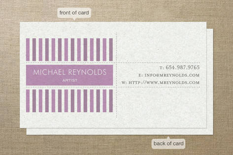 Modern Art Business Cards