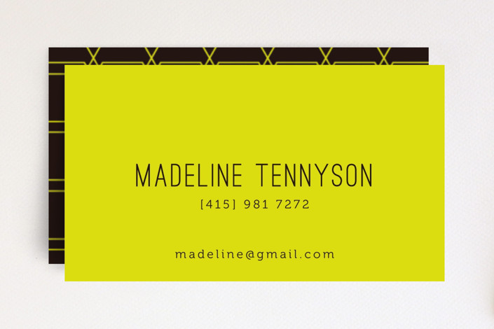Neon Business Cards by cho ocacino