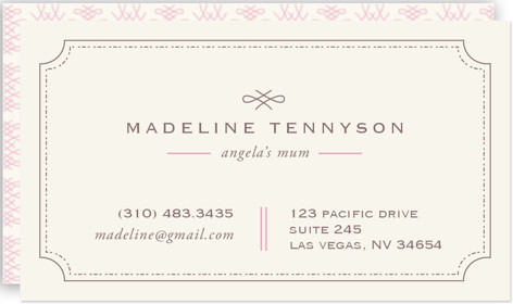 Mina Beleza Business Cards