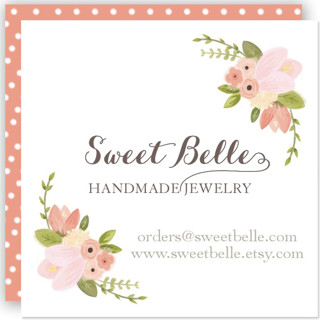 Rustic Floral Business Cards