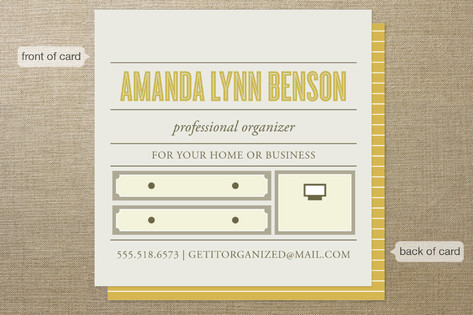 Top Shelf Professional Organizer Business Cards