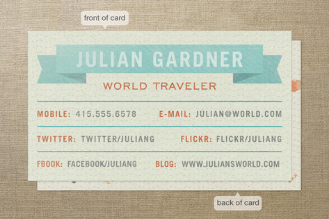 World Traveler Business Cards