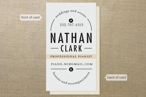Classical Composition Business Cards