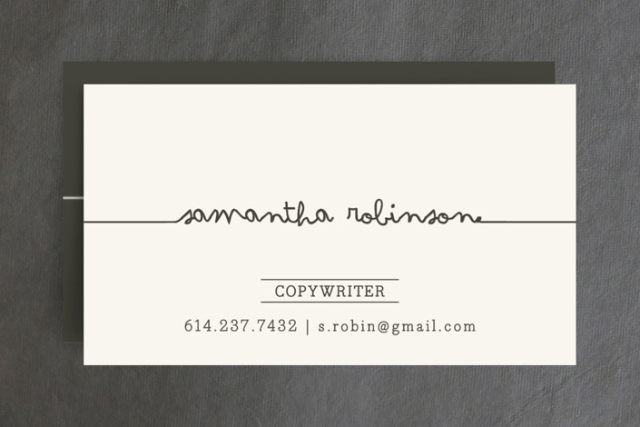 Drop Me A Line Business Cards by Carrie ONeal