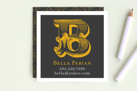 Initial Caps Business Cards