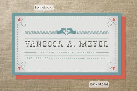 Vintage Massage Business Cards