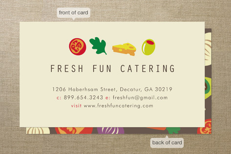 All the Right Ingredients Business Cards