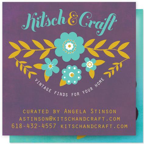 folksy floral Business Cards