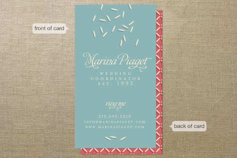 Wedding Coordinator Business Cards