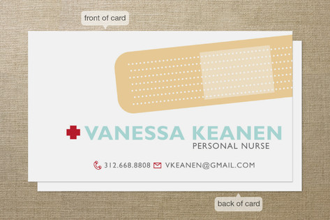 Band Aid Business Cards