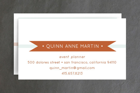 Banner + Stripes Business Cards
