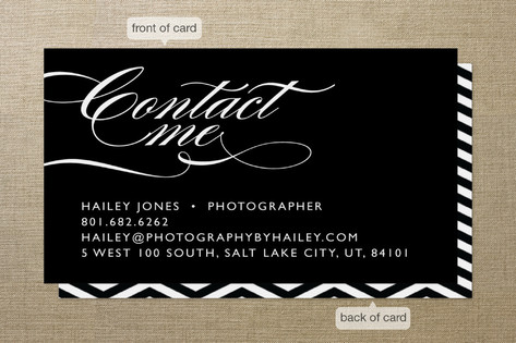 Bold Contact Business Cards