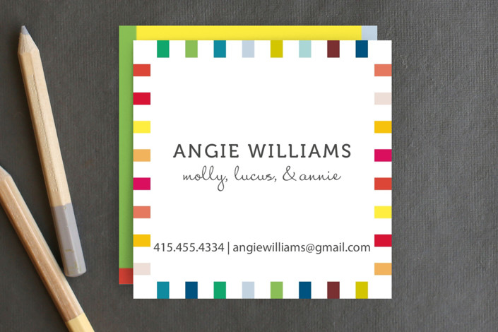 Colorful Playtime Business Cards by SimpleTe Desig