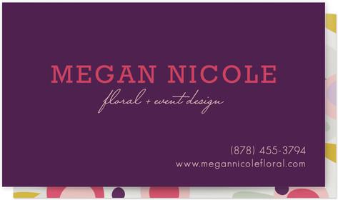 Megan Floral Business Cards