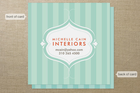 Striped Elegance Business Cards