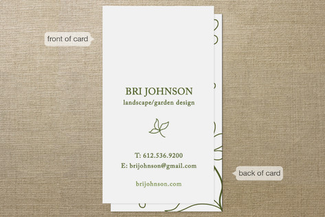 Garden Vines Business Cards