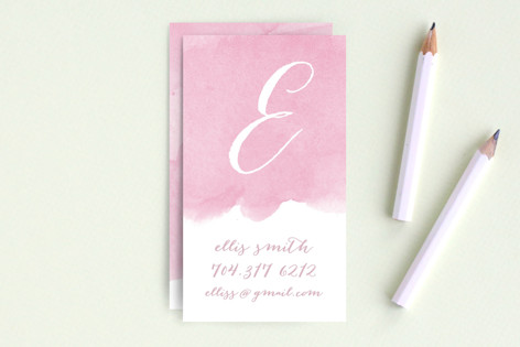 Monogram Wash Business Cards