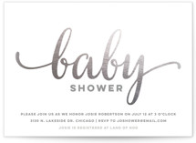Brilliance Foil-Pressed Baby Shower Invitations