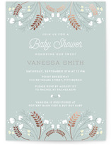 Fields of Cotton Foil-Pressed Baby Shower Invitations