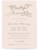 Modern Mother-to-Be Foil-Pressed Baby Shower Invitations