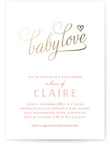 My Baby Love Foil-Pressed Baby Shower Invitations