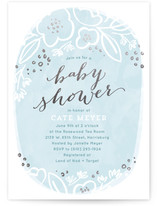 Rosebloom Foil-Pressed Baby Shower Invitations