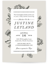 Vintage Caslon Baby Shower Invitations