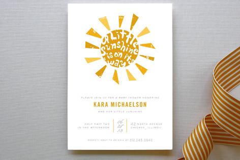 Little Sunshine Baby Shower Invitations