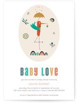 The Stork Baby Shower Invitations