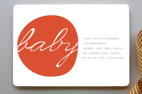 Modern Organic Baby Shower Invitations