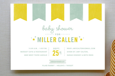 Festoon Baby Shower Invitations