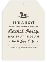 Vintage Rocker Baby Shower Invitations
