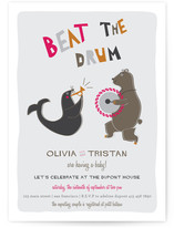 Beat the Drum Baby Shower Invitations