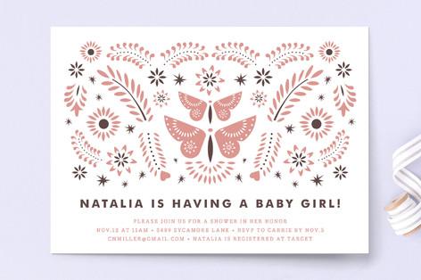 Mariposas Baby Shower Invitations