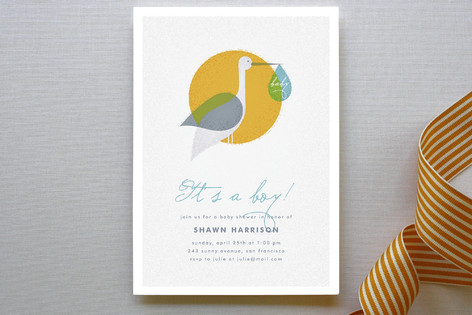 Via Stork Baby Shower Invitations