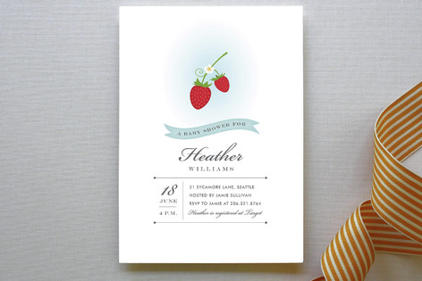 Wild Strawberries Baby Shower Invitations
