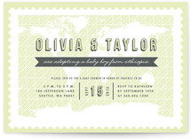 Our Little Worldly Baby Baby Shower Invitations