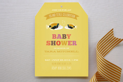 Tropical Shower Baby Shower Invitations