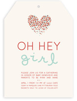 Confetti Love Baby Shower Invitations