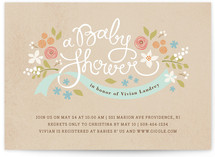 Rustic Ribbons and Flora Baby Shower Invitations