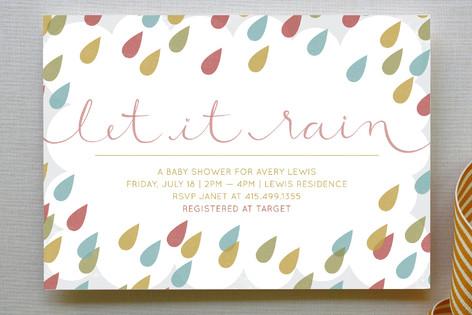 Let It Rain Baby Shower Invitations