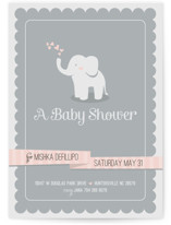 Baby Elephant Baby Shower Invitations