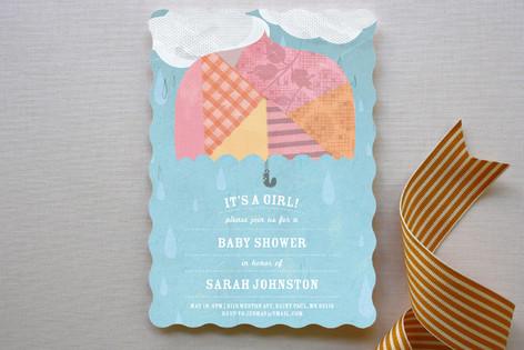 Rainy Day Baby Shower Invitations