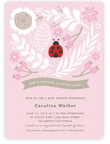 A Little Lady Baby Shower Invitations