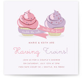 Double Cupcake Fun Baby Shower Invitations